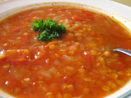 recept på röd linssoppa